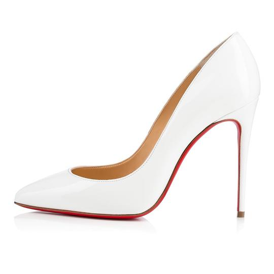 Christian Louboutin Pigalle Stiletto Follies Classic Patent white Pumps Image 2