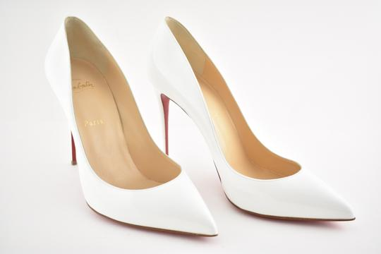Christian Louboutin Pigalle Stiletto Follies Classic Patent white Pumps Image 3