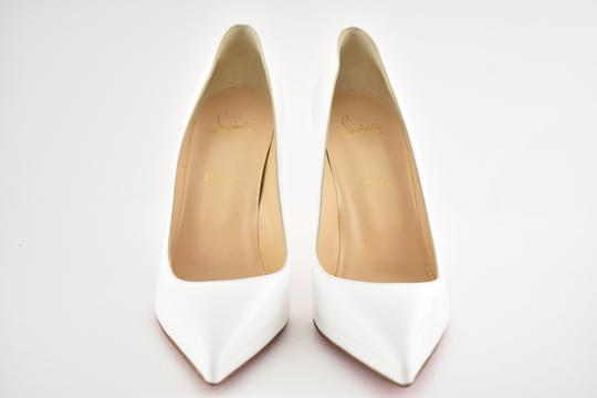 Christian Louboutin Pigalle Stiletto Follies Classic Patent white Pumps Image 4