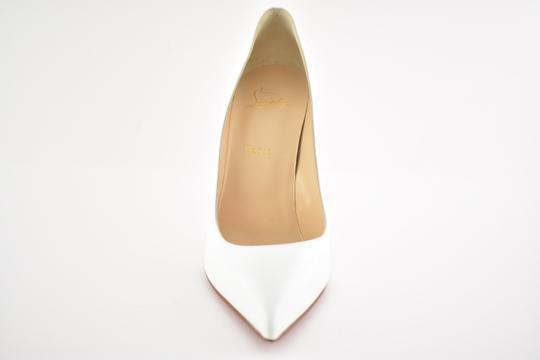 Christian Louboutin Pigalle Stiletto Follies Classic Patent white Pumps Image 5