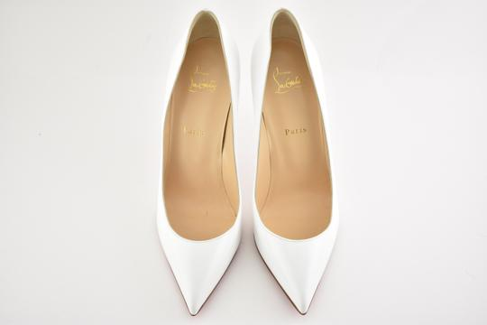 Christian Louboutin Pigalle Stiletto Follies Classic Patent white Pumps Image 6