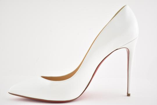 Christian Louboutin Pigalle Stiletto Follies Classic Patent white Pumps Image 7