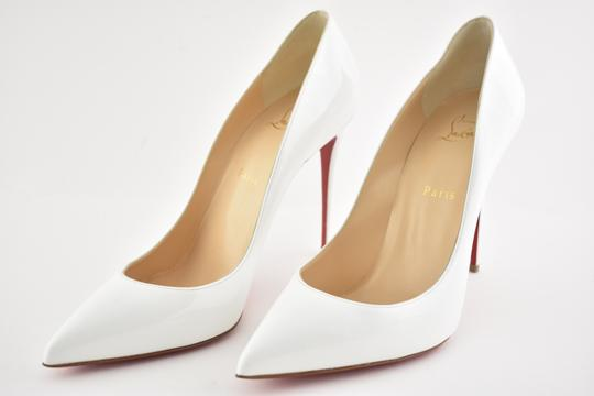 Christian Louboutin Pigalle Stiletto Follies Classic Patent white Pumps Image 8