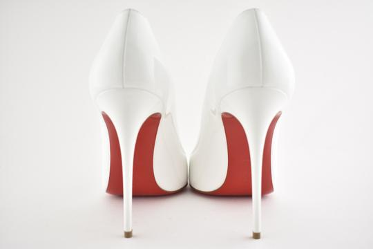 Christian Louboutin Pigalle Stiletto Follies Classic Patent white Pumps Image 9