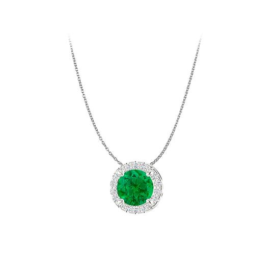 Preload https://img-static.tradesy.com/item/23813211/green-sophisticated-emerald-and-cz-halo-pendant-in-925-silver-necklace-0-0-540-540.jpg