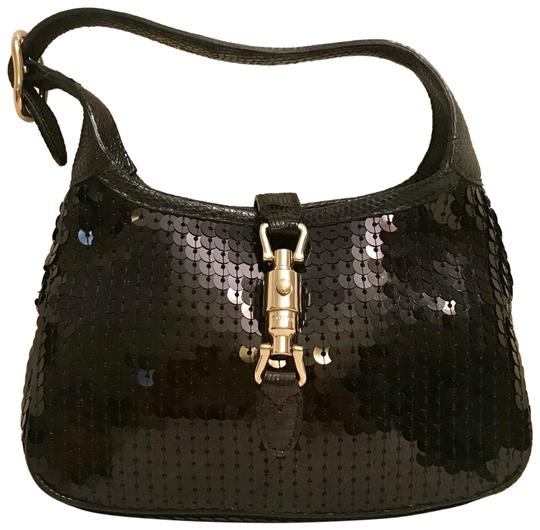 Preload https://img-static.tradesy.com/item/23813230/gucci-jackie-o-mini-evening-black-sequin-and-lizard-and-silk-baguette-0-1-540-540.jpg