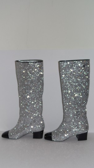 Chanel SILVER Boots Image 2