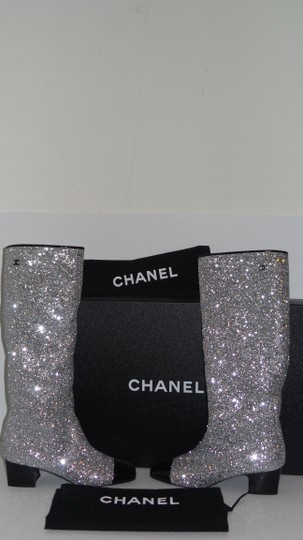 Chanel SILVER Boots Image 7