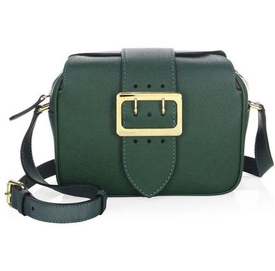 aba8cec12645 Burberry Buckle Camera Green Leather Cross Body Bag - Tradesy