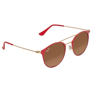 Ray-Ban Ray-Ban Brown-Pink Gradient 49mm Round Sunglasses RB3546 907271 49