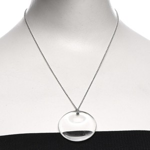 Tiffany & Co. Retired crystal rock Peretti disc necklace