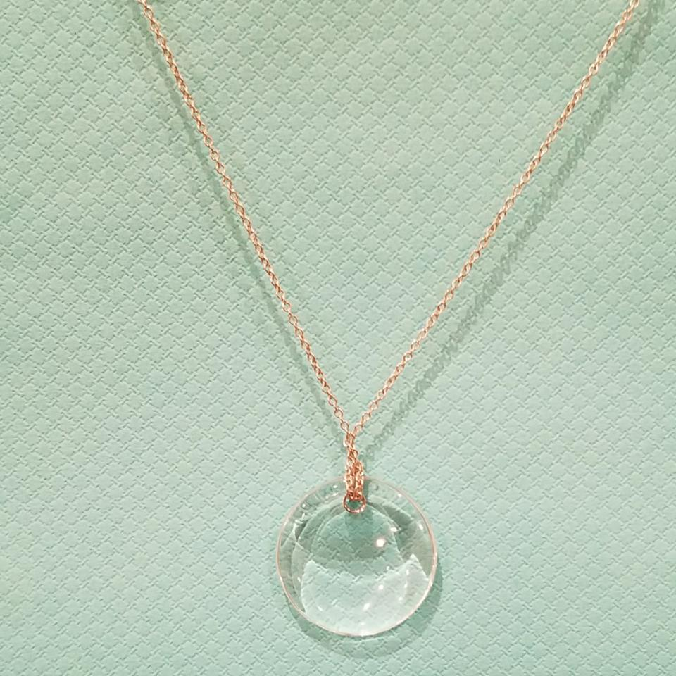 496d8db93 Tiffany & Co. Retired crystal rock Peretti disc necklace Image 6. 1234567