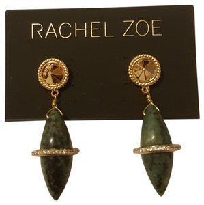 Rachel Zoe Green stone dangling earrings