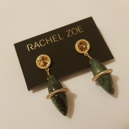 Rachel Zoe Green stone dangling earrings Image 1
