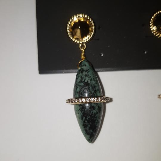 Rachel Zoe Green stone dangling earrings Image 11