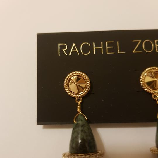 Rachel Zoe Green stone dangling earrings Image 2