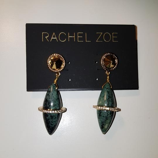 Rachel Zoe Green stone dangling earrings Image 4