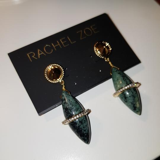 Rachel Zoe Green stone dangling earrings Image 5