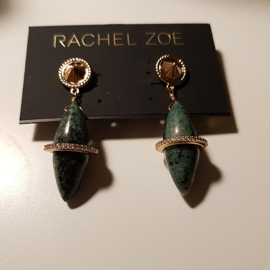 Rachel Zoe Green stone dangling earrings Image 7