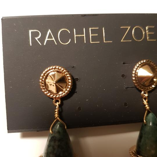 Rachel Zoe Green stone dangling earrings Image 8