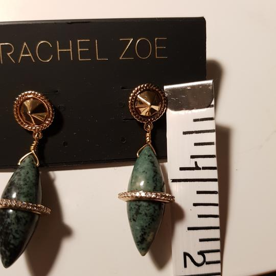 Rachel Zoe Green stone dangling earrings Image 9