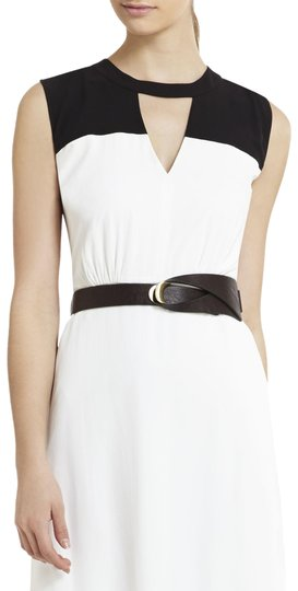 BCBGMAXAZRIA BCBG Brown Faux Leather Waist Belt Image 1