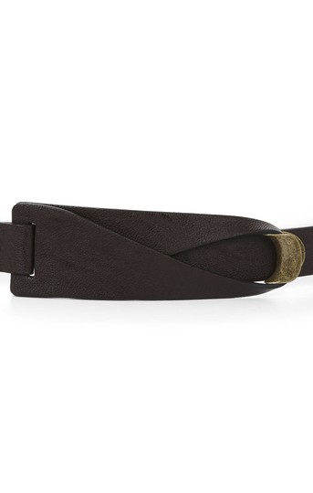 BCBGMAXAZRIA BCBG Brown Faux Leather Waist Belt Image 2