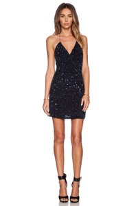 MLV Night Out Date Night Party Sequin Cut-out Dress
