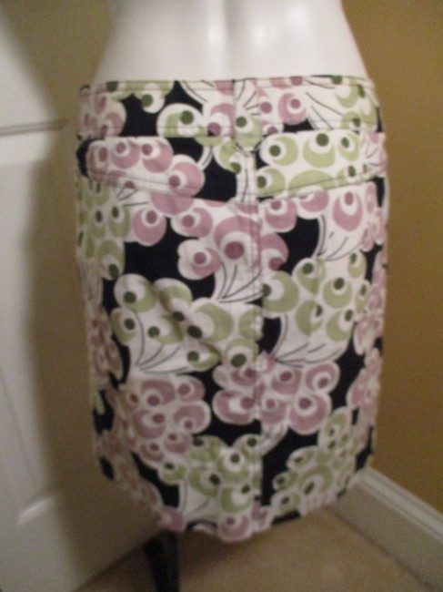 Ann Taylor LOFT Cotton Stretchy Short Mini Skirt multi print Image 5