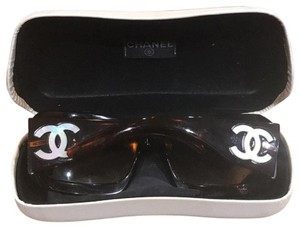 Chanel Includes sunglass case Mother of Pearl Brown Sunglasses