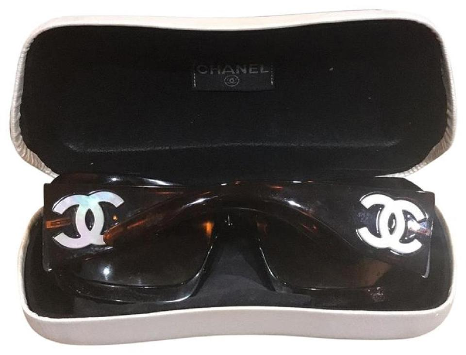 4e58c48f07 Chanel Includes sunglass case Mother of Pearl Brown Sunglasses Image 0 ...