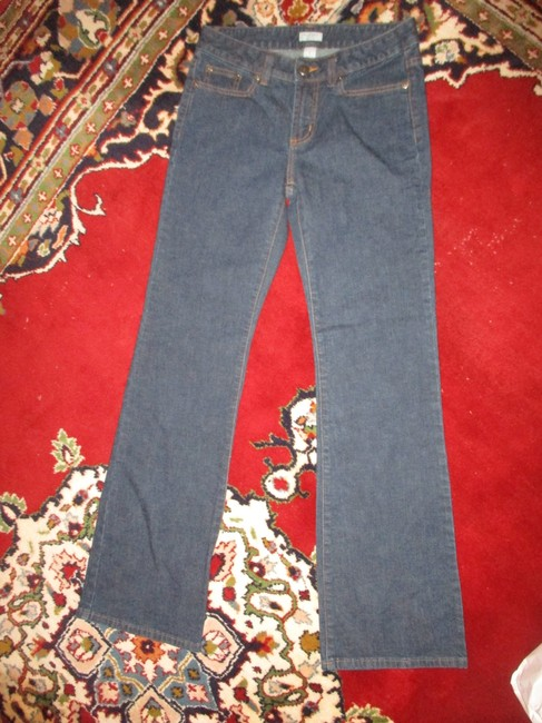 Halogen Stretchy Cotton Boot Cut Jeans-Dark Rinse Image 1