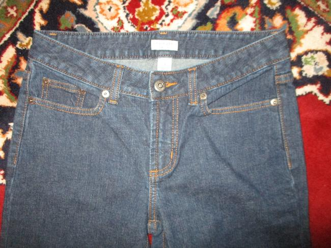 Halogen Stretchy Cotton Boot Cut Jeans-Dark Rinse Image 2
