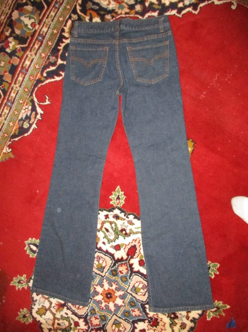 Halogen Stretchy Cotton Boot Cut Jeans-Dark Rinse Image 3