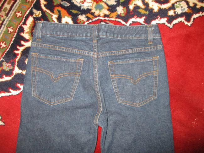 Halogen Stretchy Cotton Boot Cut Jeans-Dark Rinse Image 4