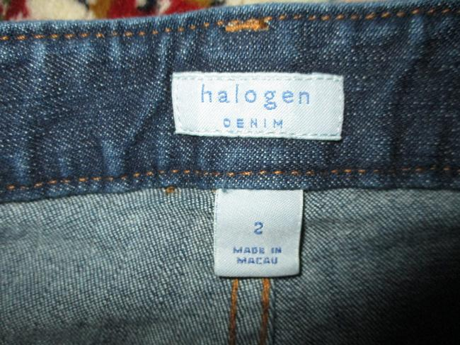 Halogen Stretchy Cotton Boot Cut Jeans-Dark Rinse Image 5