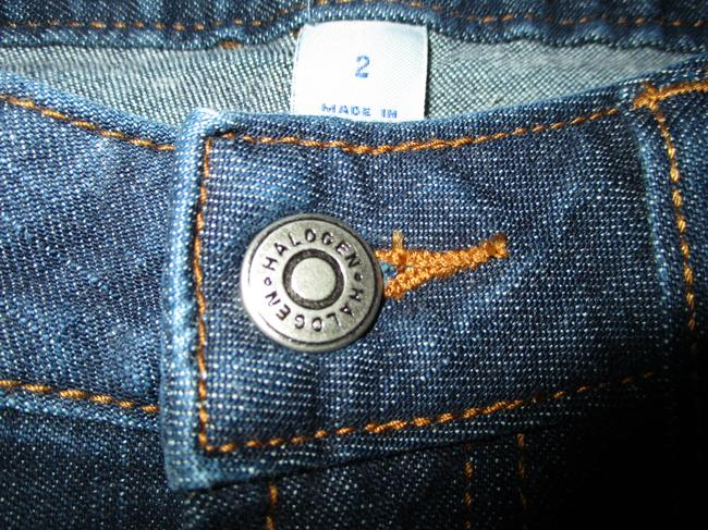 Halogen Stretchy Cotton Boot Cut Jeans-Dark Rinse Image 7