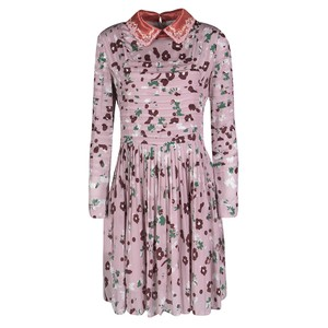 cb69e61f6b Valentino short dress Pink Floral Print Contrast Applique Detail on Tradesy