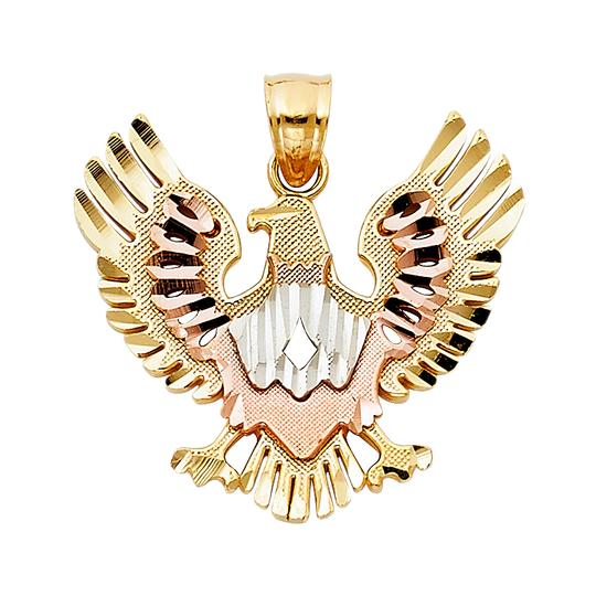 Preload https://img-static.tradesy.com/item/23813847/tri-color-14k-gold-eagle-pendant-charm-0-0-540-540.jpg