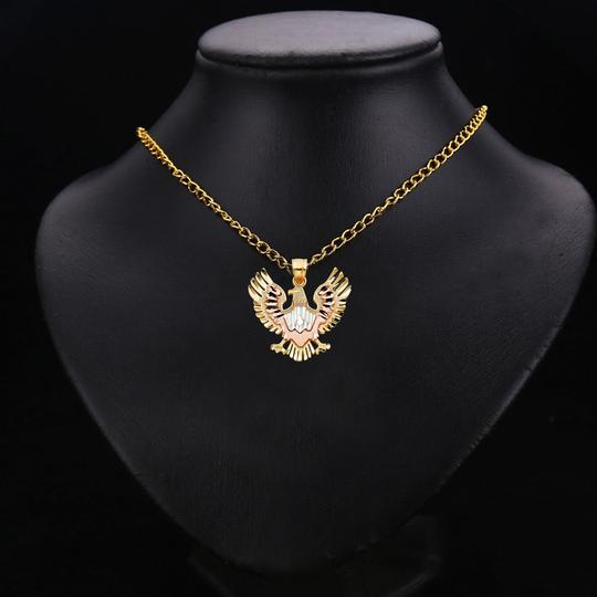 TD Collections 14K Tri Color Gold Eagle Pendant Image 2