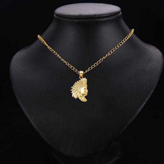 TD Collections 14K Yellow Gold Indian Pendant Image 2