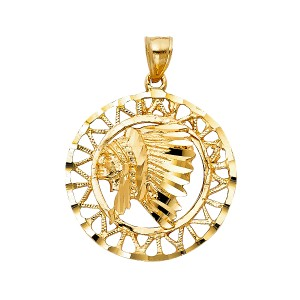 TD Collections 14K Yellow Gold Indian Pendant