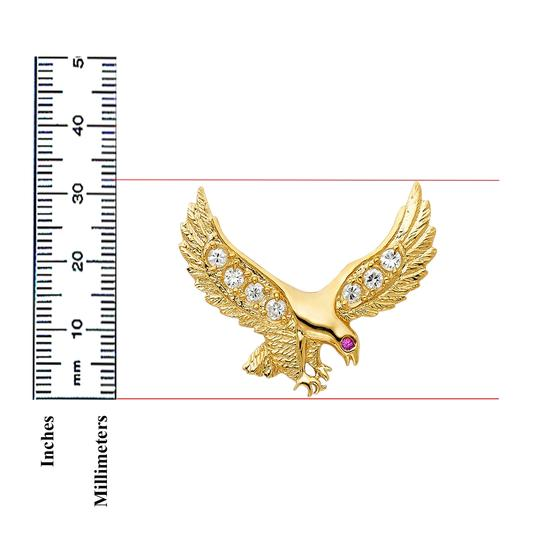 TD Collections 14K Yellow Gold CZ Eagle Pendant Image 1