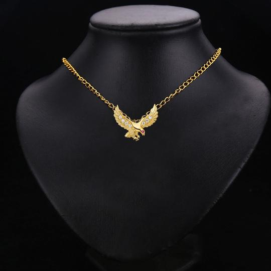 TD Collections 14K Yellow Gold CZ Eagle Pendant Image 2