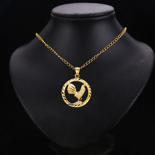TD Collections 14K Yellow Gold Rooster Pendant Image 2
