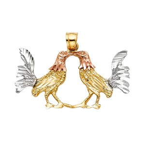 TD Collections 14K Tri Color Gold Rooster Pendant