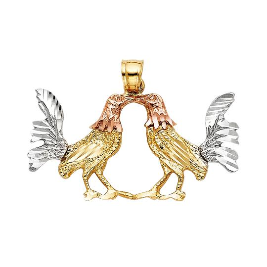 TD Collections 14K Tri Color Gold Rooster Pendant Image 0