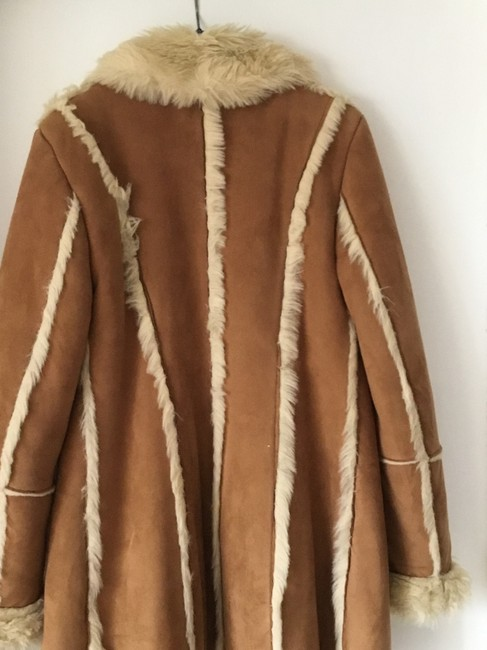 Unbran Good Fit Great Lenght Light brown Leather Jacket Image 1