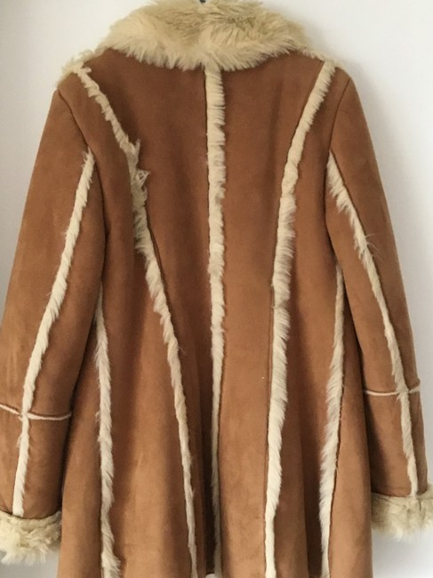 Unbran Good Fit Great Lenght Light brown Leather Jacket Image 2