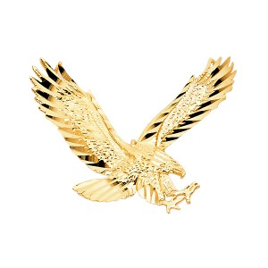 TD Collections 14K Yellow Gold Eagle Pendant